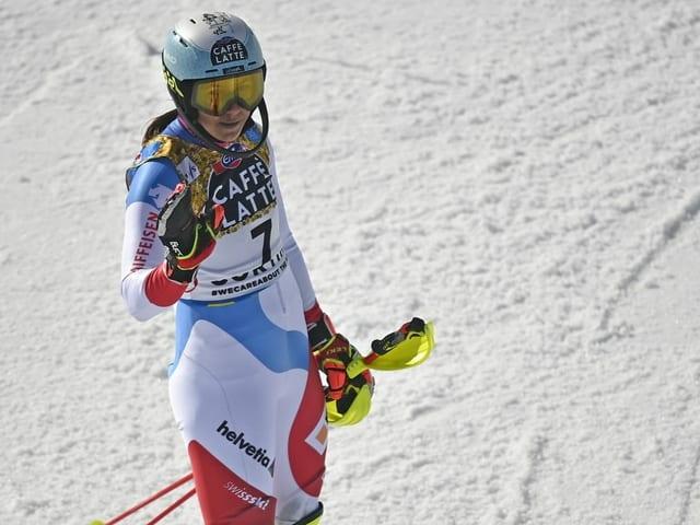 Wendy Holdener reist ohne Medaille von der WM ab.