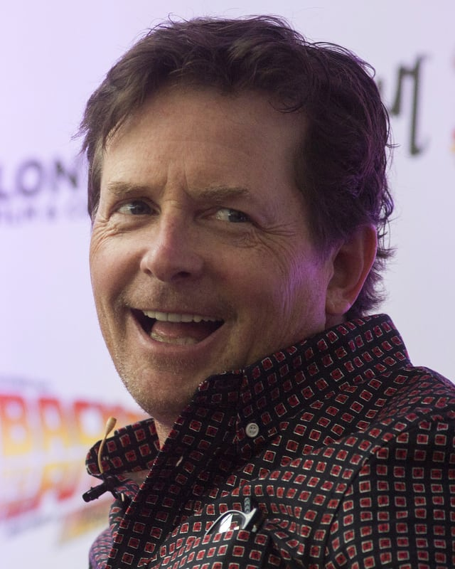 Portraitbild von Michael J. Fox.