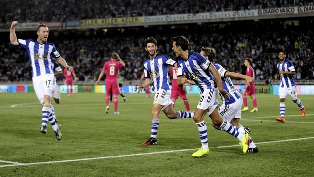 Real Sociedad bejubelt ein Tor.