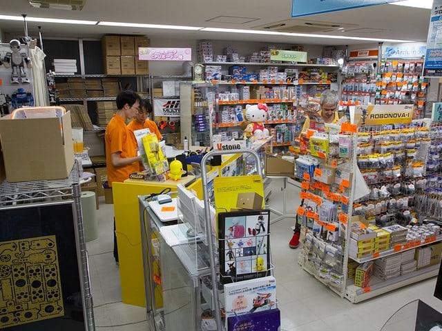 Im Roboterladen in Tokio.