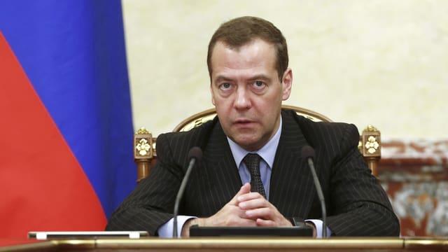 Russlands Ministerpräsident Dmitri Medwedew (Archiv)