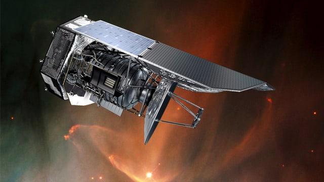 Das Weltraumteleskop Herschel.