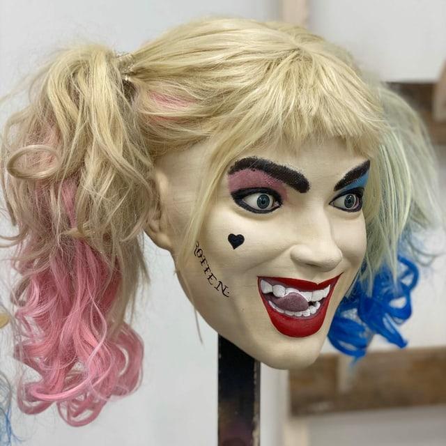 Maske der Comicfigur Harley Quinn