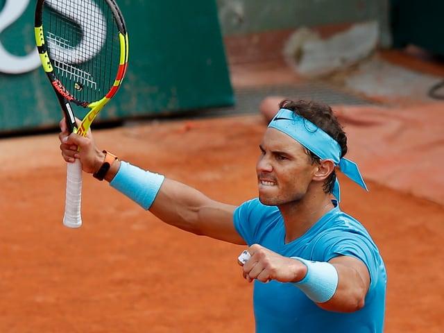 Rafael Nadal jubelt