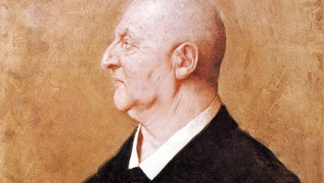 Anton Bruckner in einem Porträtgemälde von Hermann von Kaulbach.