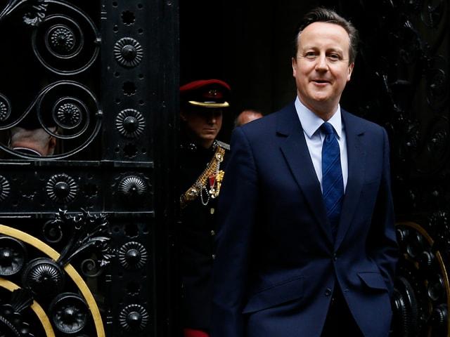 David Cameron beim Verlassen der 10 Downing Street.