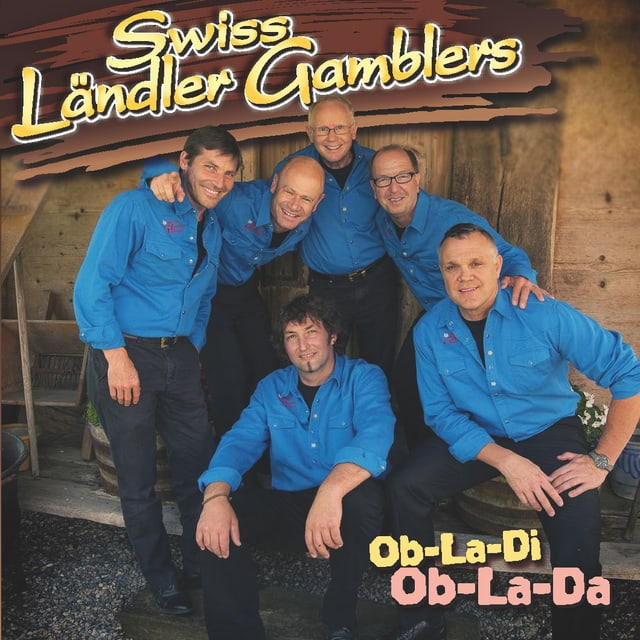 Die sechs Musikanten in blauen Hemden auf dem Cover vom aktuellen Album «Ob-La-Di, Ob-La-Da».