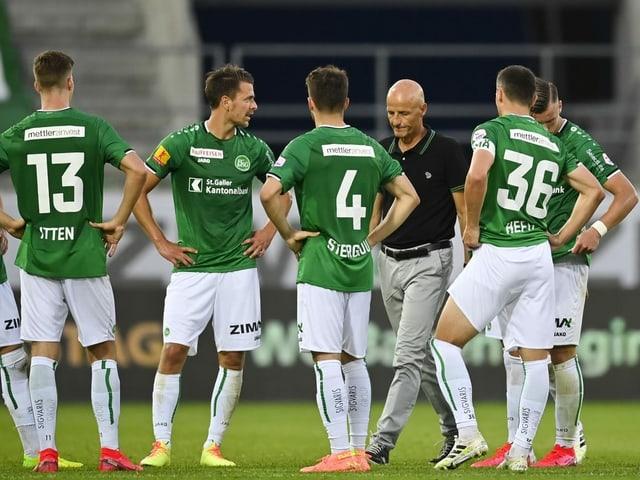 Die St. Galler nach der 0:4-Klatsche gegen den FCZ.