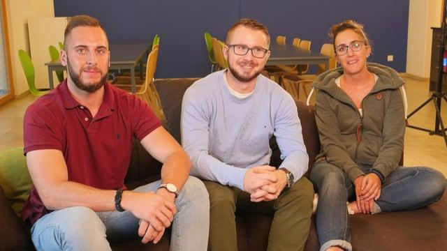 Flavian Bearth, Daniel Rühl e Selina Fanzun.
