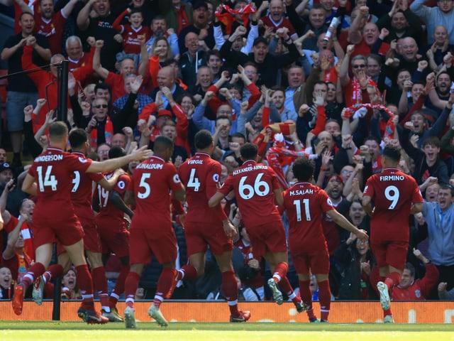 Fans und Spieler des FC Liverpool.