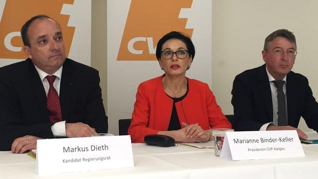 Medienkonferenz der CVP Aargau