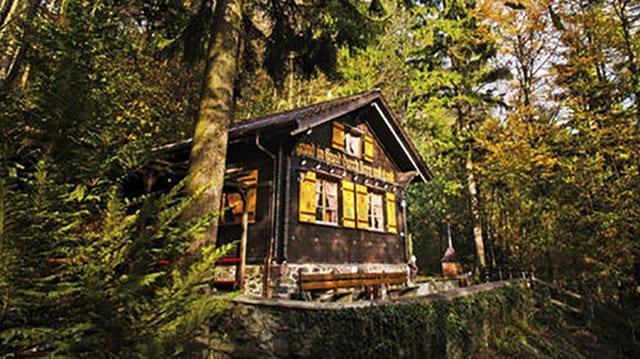 Haus mitten im Wald