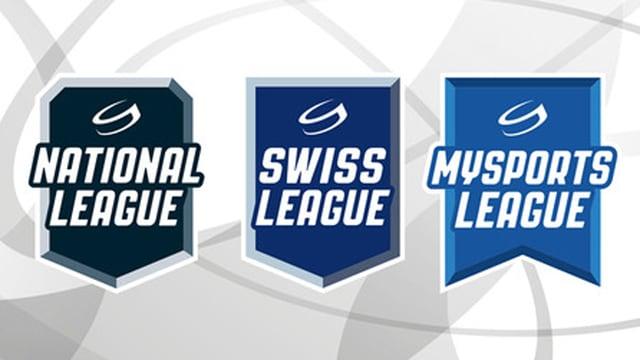Die neuen Logos der Schweizer Eishockey-Ligen.