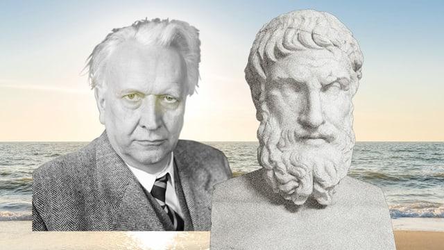 Bildmontage von Philosophen