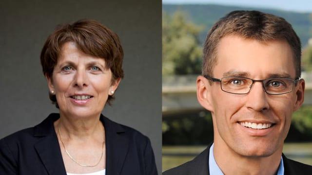 Stadtpräsidenten-Kandidaten Jolanda Urech und Lukas Pfister