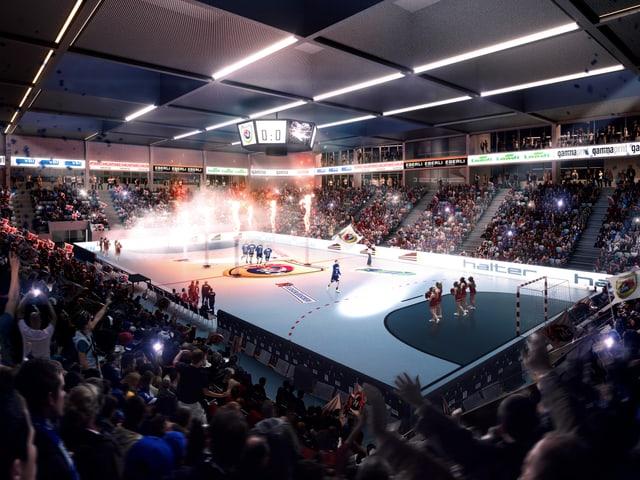 In der Halle soll dereinst der HC Kriens-Luzern seine Heimspiele in der NLA austragen.