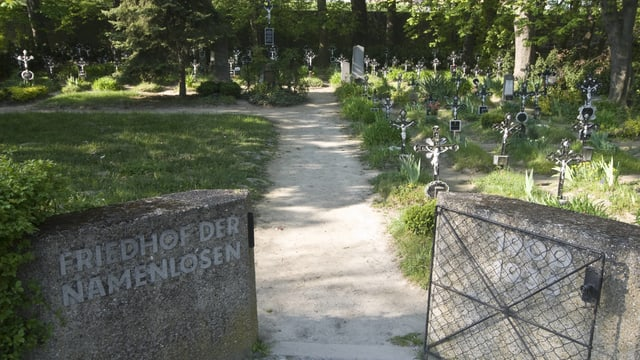 Der Eingang des sogenannten «Friedhofs der Namenlosen»