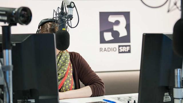 Blick ins Studio von Radio SRF 3