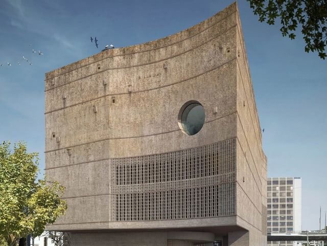 Monumentaler, asymetrischer Koloss des geplanten Ozeaniums im Basler Zoo