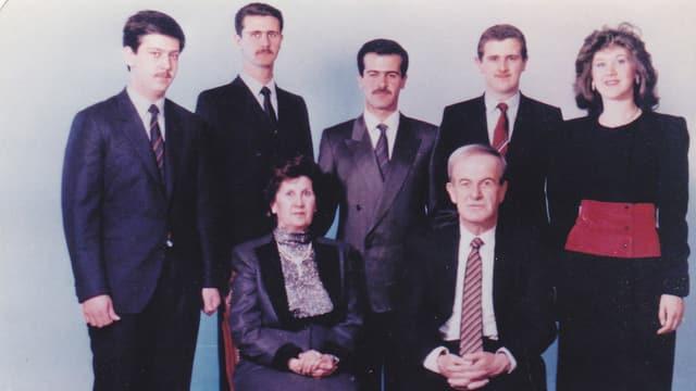 Porträt der Familie Assad.