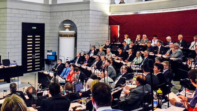 Der Luzerner Kantonsrat im Ratssaal