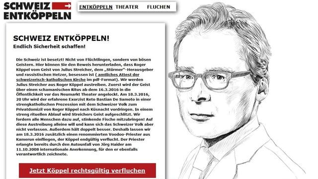 Für die Aufführung im Theater am Neumarkt gibt es eine extra-Homepage.