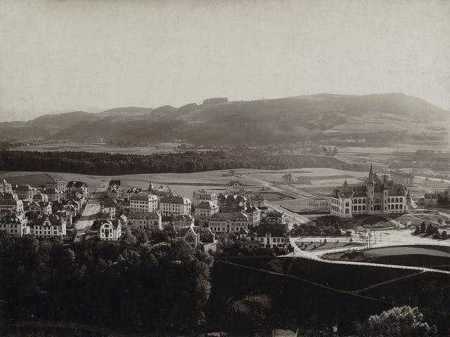 Ein historisches Bild der Stadt Bern.