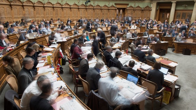 Nationalrat an der Session in Bern