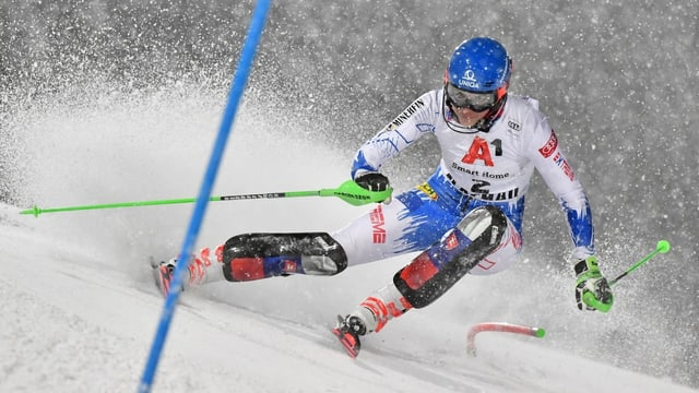 la skiunza Petra Vlhova durant il slalom