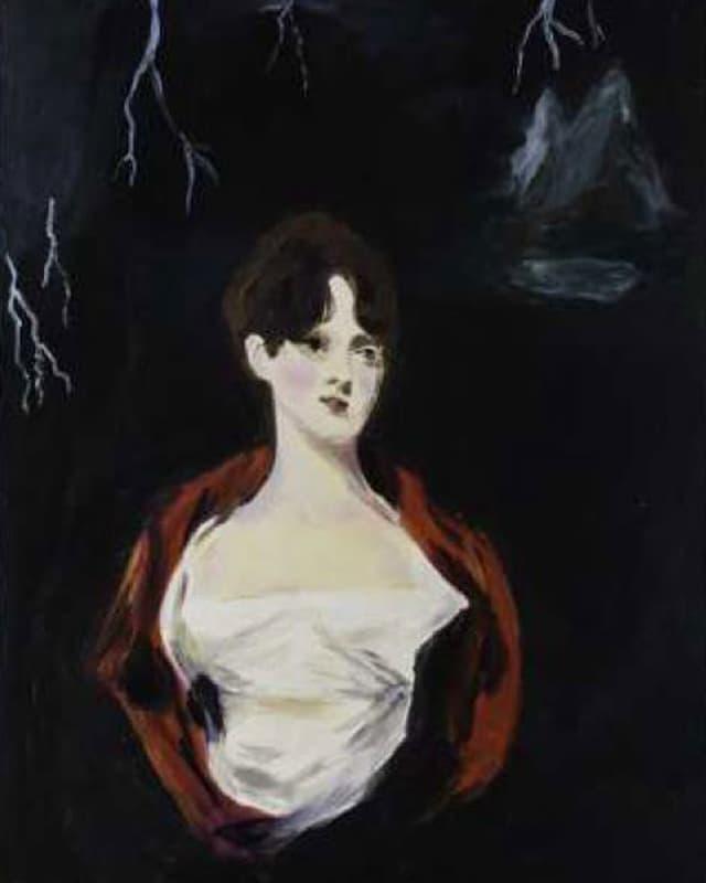 Gemälde: «Mary Shelley Writing Frankenstein», Karen Kilimnik, 2001.