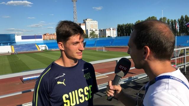 Andreas Wieland en l'intervista cun Steven Zuber