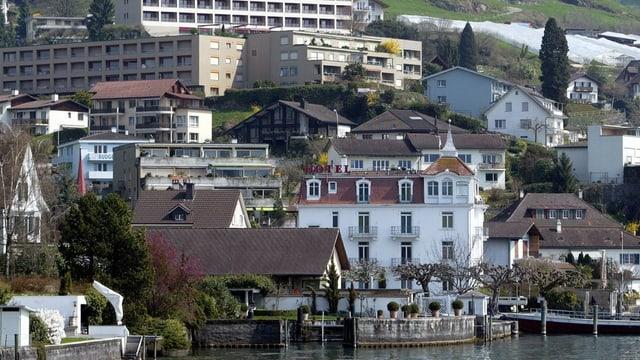 Hotels und Wohnungen in Weggis am Vierwaldstättersee.