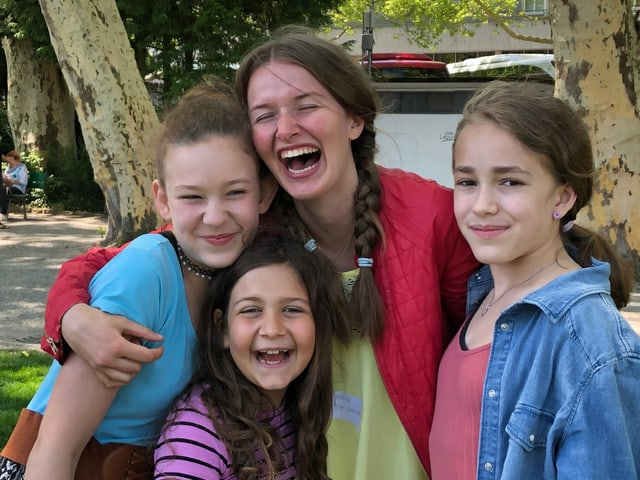 4 Mädchen am Zambo-Treffen