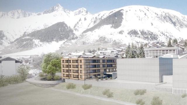 La residenza da seniors planisada a Sedrun vegn a Dulezi tranter il Coop e la banca chantunala.