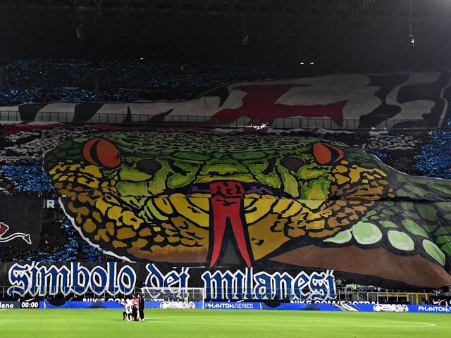 Die Choreo der Mailänder Fans vor dem «Derby della Madonnina».