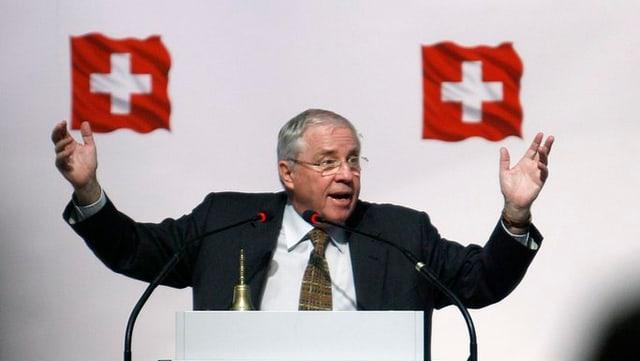 Christoph Blocher tar in pled