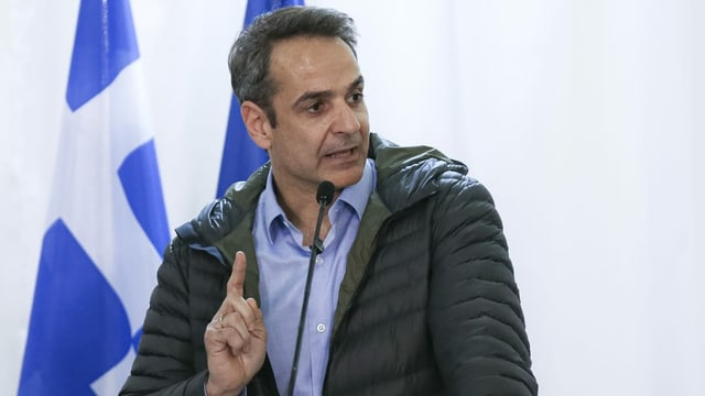 Der griechische Premier Mitsotakis