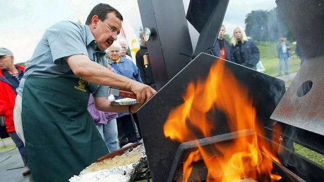 Dieser Grillierer aus Südafrika nahm am World Barbecue Gold Cup in Spiez teil.