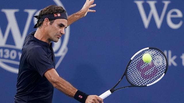 Roger Federer durant ina partida.