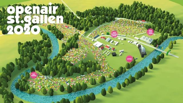 Plan des Openair St. Gallen