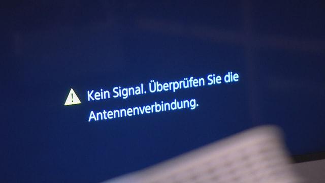 Kein Signal: Screenshot Bildschirm