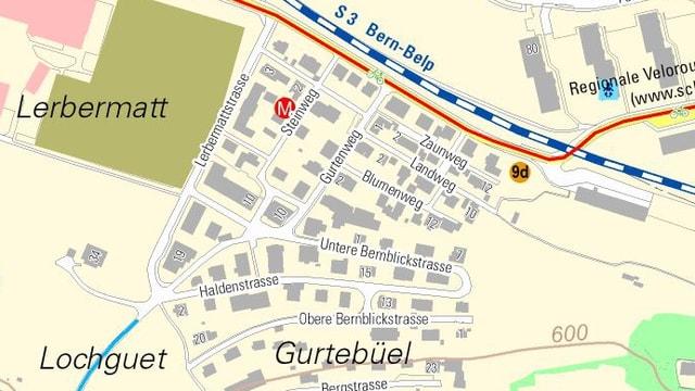 Gurtenbühl-Quartier in der Gemeinde Köniz