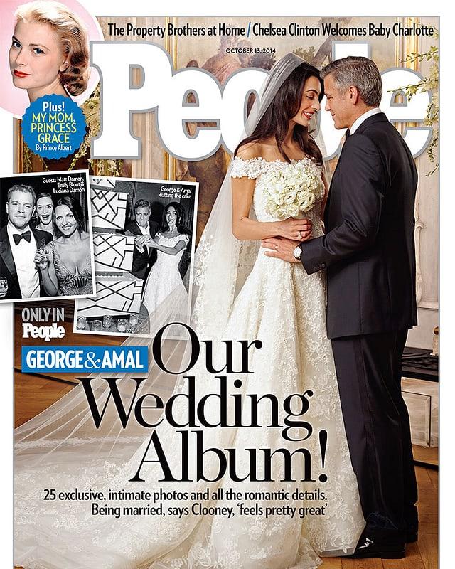 Hochzeitsbild George Clooney und Amal