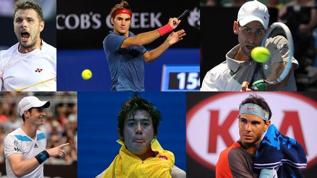 Stan Wawrinka, Roger Federer, Novak Djokovic, Andy Murry, Kei Nishikori oder Rafael Nadal?