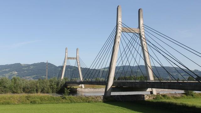 Die Rheinbrücke bei Diepoldsau