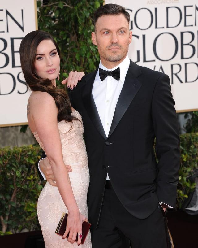 Megan Fox und Brian Austin Green posieren für die Fotografen.