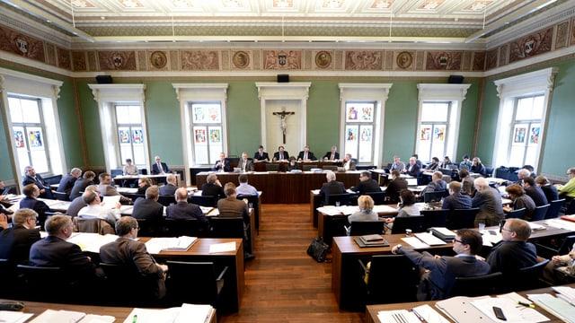 Ratsdebatte im Zuger Kantonsparlament.