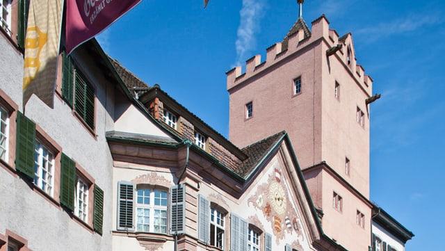 Trum des Rathauses von Rheinfelden.