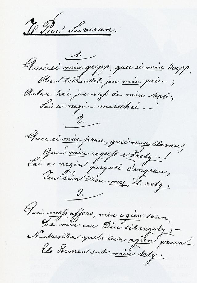Manuscrit dil Pur suveran