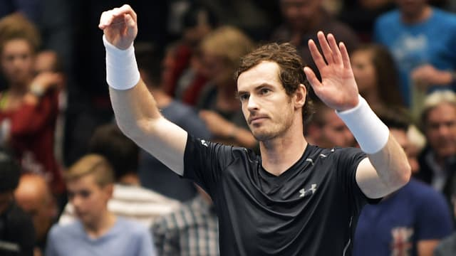 Andy Murray jubelt.